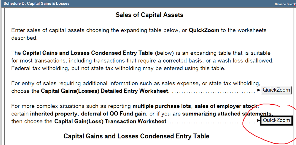 How Can I Enter Information For The 28 Rate Gain Intuit Accountants Community