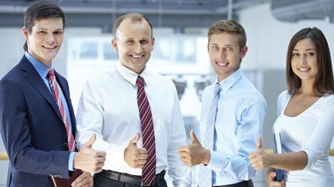 happy successful tax team