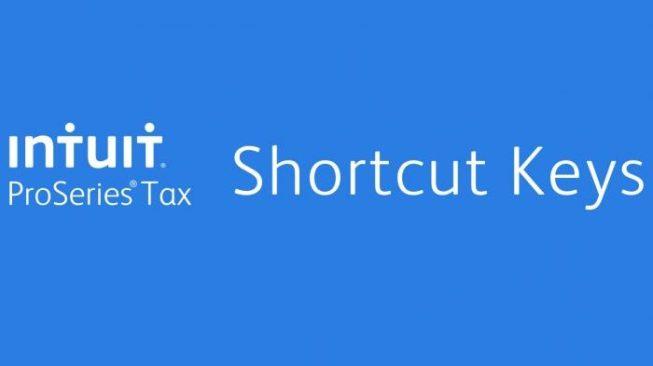 Intuit ProSeries shortcut keys