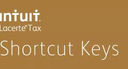 Shortcut Keys in Intuit® ProConnect™ Lacerte®