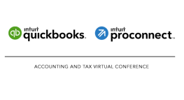 Save Your Spot at the QuickBooks® Accounting and ProConnect™ Tax September Virtual Conference