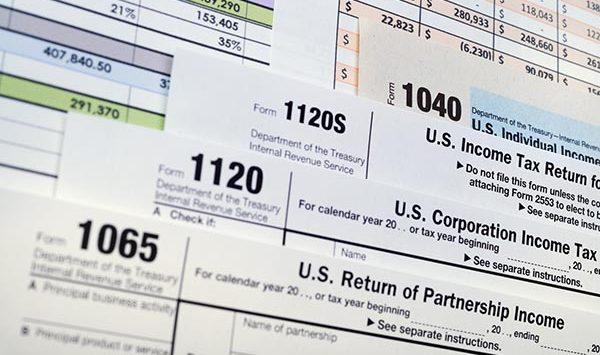 U.S. Income Tax Return forms
