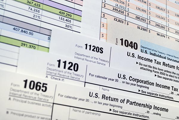 U.S. Income Tax Return forms