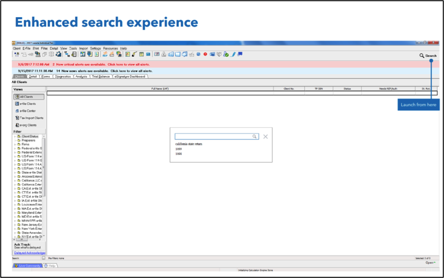 lacerte enhanced search experience
