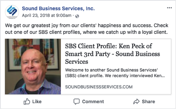 Sound Business Services Client Profile