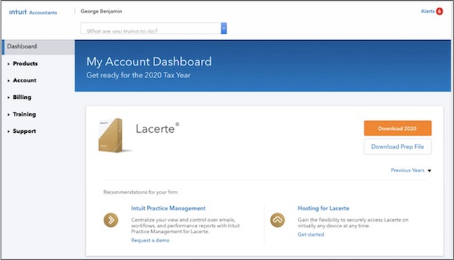 My Account Dashboard LC 2020